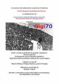 GIGI70 - Testi e musica dedicati al grande campione